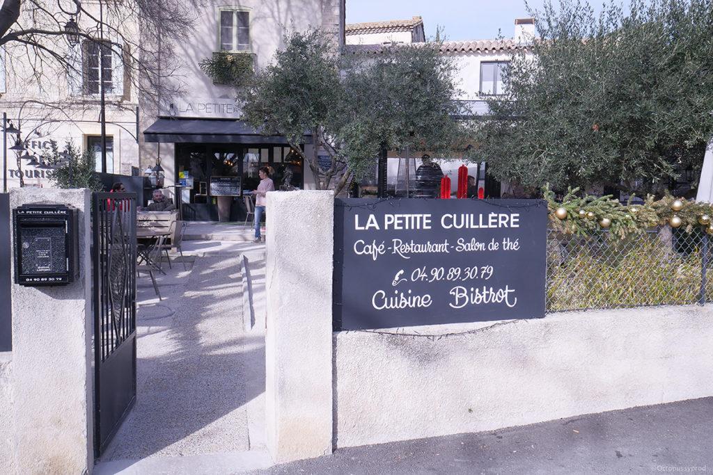 terrasse chauffée restaurant la petite cuillère villeneuve-les-avignon